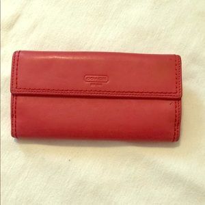 Coach Wallet- mango leather